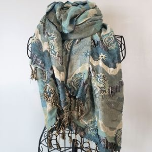 Beautiful blue and silver scarf